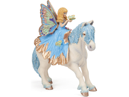 Fairy Child with Butterfly (blue)