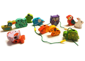Beads in Wood Animals