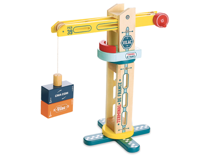 Crane in wood