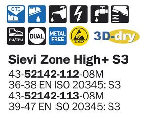 Sievi Zone High+ S3