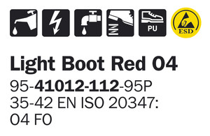 Light Boot Red O4