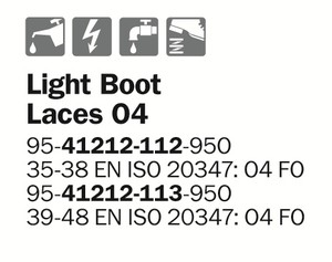 Light Boot Laces O4