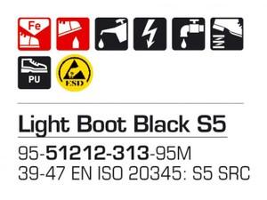 Light Boot Black S5