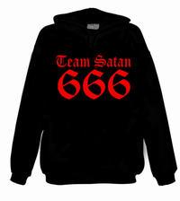 Team Satan 666 (rött tryck) [Sweatshirt]
