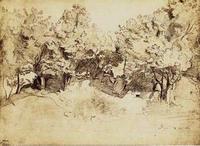 Corot - Sepia Corot Landscape