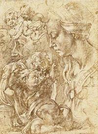 Buongroti - Sepia Woman and Child