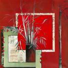 Annie Manero - Vase noir aux Bambous - 10 st