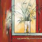 Annie Manero - Vase blanc aux Bambous - 10 st