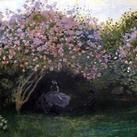 Claude O. Monet - Resting under the Lilacs