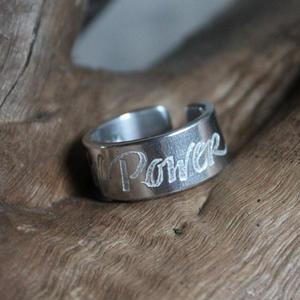 """""""Girl Power"""" ring"""
