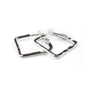 VÅGA smycken, örhängen kvadrat, silver