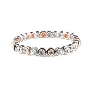 VÅGA smycken, strassarmband, Shine multi rose