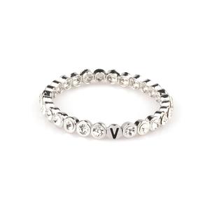 VÅGA smycken, strassarmband, Shine rhodium