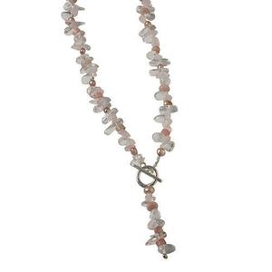 Pearls for Girls halsband sommarrosa, längd 50 cm