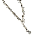 Pearls for Girls halsband gråbrun, längd 50 cm