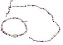 Pearls for Girls halsband och armband, set lila