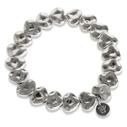 Pearls for Girls armband hjärtan silverpläterat