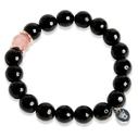 Pearls for Girls armband agat svart