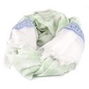 Qnuz scarf, mintgrön mönster