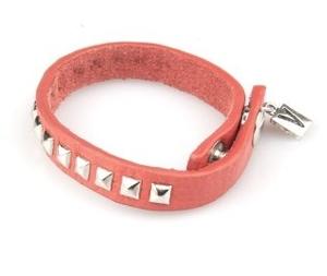 VÅGA smycken, läderarmband orange