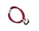 Pearls for Girls. Rött armband med silverhjärta