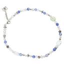 Pearls for Girls. Halsband med blå pärlor, längd 45 cm