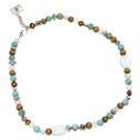 Pearls for Girls. Halsband med gröna pärlor, längd 45 cm