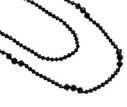 Pearls for Girls halsband svart, dubbelrad längd 100 cm