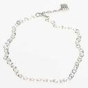 Pearls for Girls. Silverpläterad kedja, längd 45 cm.