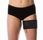 Black thigh belt