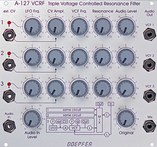 A127 TRIPLE BP/LP RESONANCE FILTER