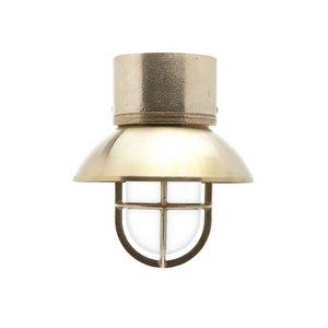 Kaj loft brass E27 removable shade ceiling mount opacue glass