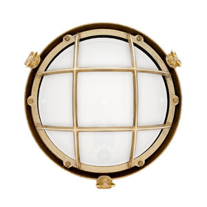Onedin brass 60W E27 opaque glass