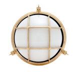 Stockholm brass E14 opaque glass