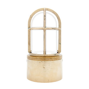 Kaj loft brass E27 opaque glass
