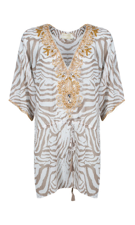 Nori dress Zebra beige