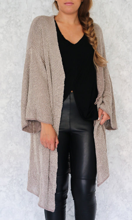 Broke long cardigan nougat