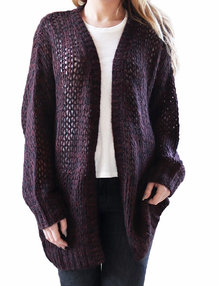 Savannah cardigan Vinröd