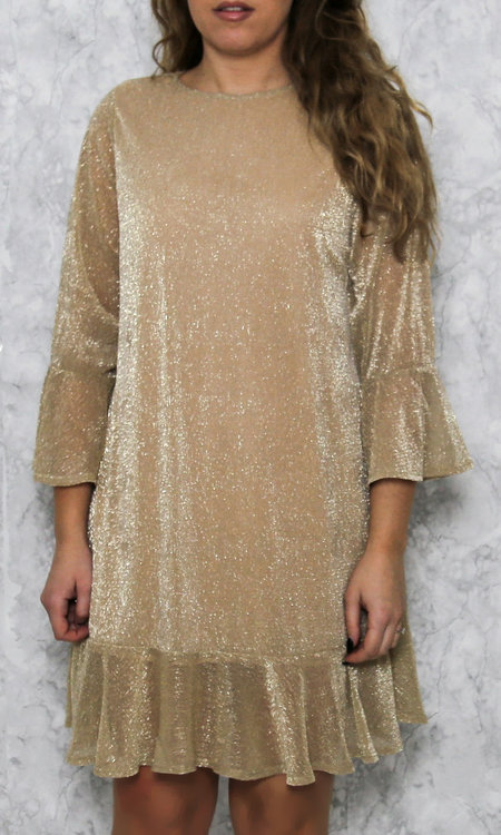 Lucy dress gold