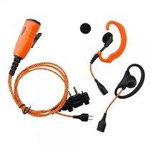 Headset PRO-U610LA Orange tygkabel, öronmussla x2, peltoransl. med PTT, med skruv