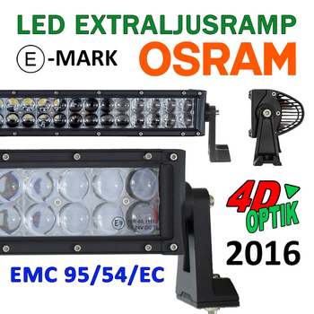 36-288W LED ramp Osram 4D optik E-mark EMC sidomonterad 2016