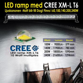 100W LED ramp 10x10W CREE XM-L T6  9-30V 9000Lm