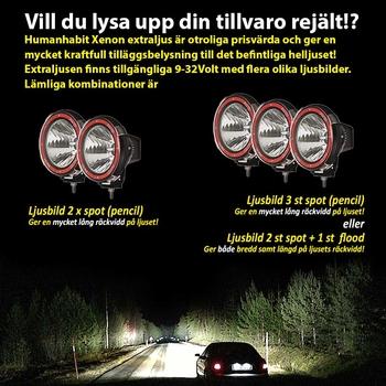 55W Xenon Extraljus Ø220mm 9-32V Grå/Blå