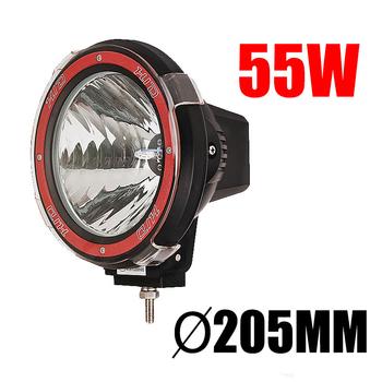55W Xenon Extraljus Ø205mm 9-32V Röd