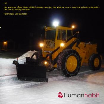 Fempack 80W LED extraljus CREE 36000 lumen