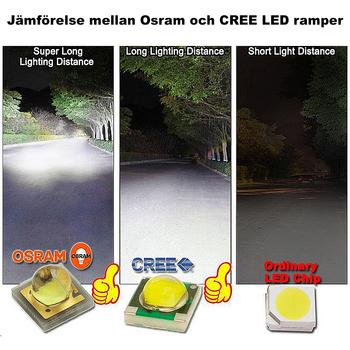 180W LED ramp Osram Extreme 5D sidomonterad