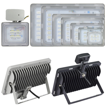 240 Volt kraftfull utomhus LED strålkastare frostad frontglas valbar 10W upp till 250W. Valbar med och utan rörelsesensor klass A++