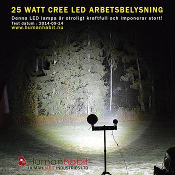 25W CREE LED arbetsbelysning, Vit