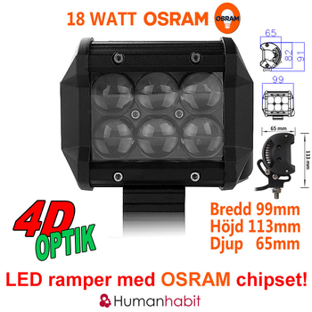 18-288W LED ramp Osram Extreme 4D fäste undertill