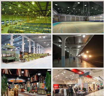 Industriell 230V LED belysning för takmontage valbar 100W, 150W, 200W och 250W för lager, verkstad och industri